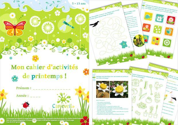 Cahier d'activités sur le rpintemps : jeux et découvertes autour du printemps