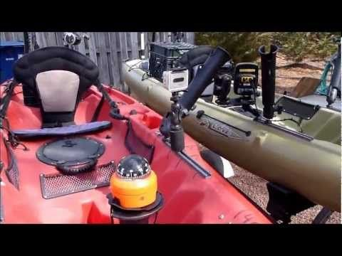 RIGGED HOBIE REVOLUTION AND OUTBACK KAYAKS FOR FISHING - YouTube