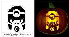 Free-Printable-Halloween-Minion-Pumpkin-Carving-Stencils-Patterns-Ideas-Templates-04.jpg (615×338)