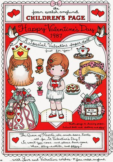Free Valentines Day Paper Doll Printables www.247moms.com #247moms