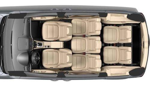 VW Sharan top view