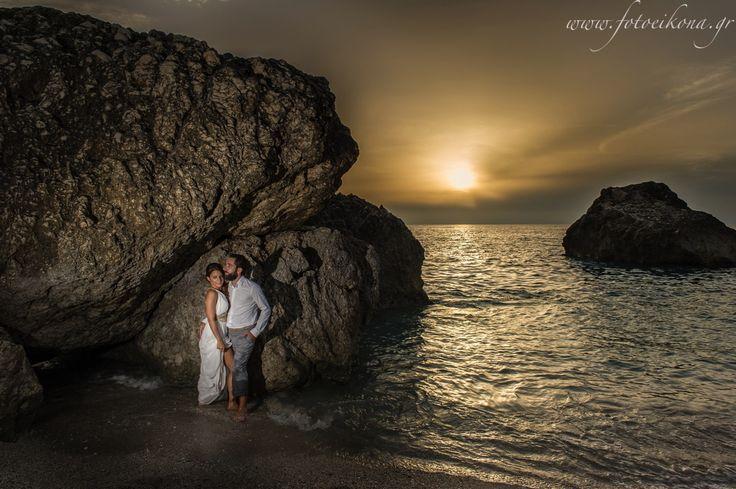Beautiful & romantic wedding photography #Lefkas #Ionian #Greece #wedding #weddingdestination #sunset Eikona Lefkada Stavraka Kritikos