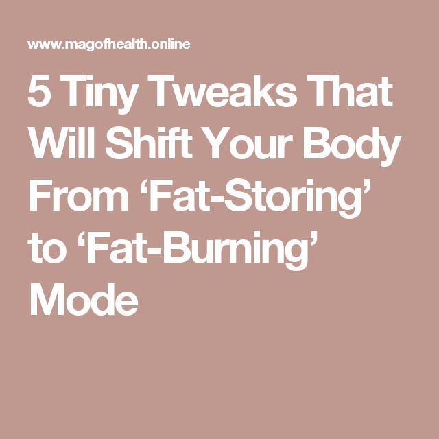 how to keep your body in fat burning mode