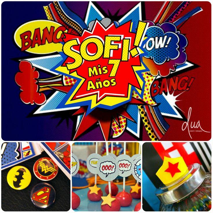 Cumple Sofi - Mujer Maravilla Candy bar + Souvenir