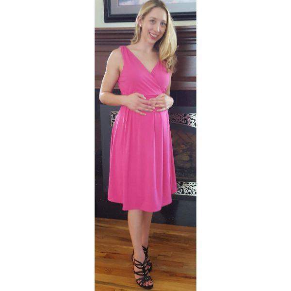 old navy maternity pink tank dress