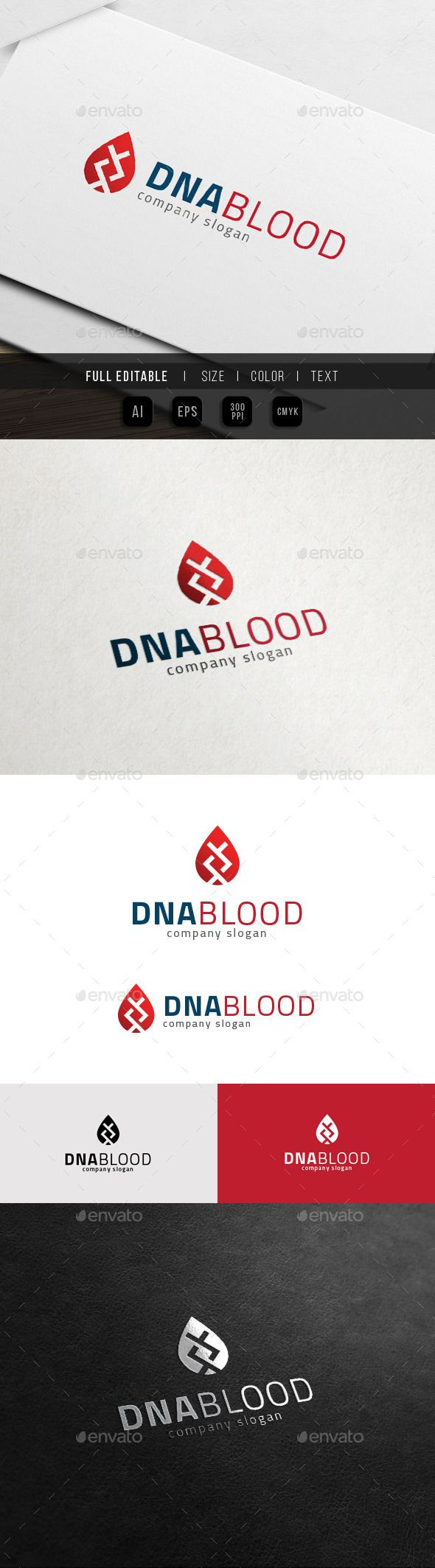 DNA Blood Bio DNA Lab Logo. This premium logo template is ideal for apps, clinic, blood, heath, young, analysis, brand, dna, DNA
