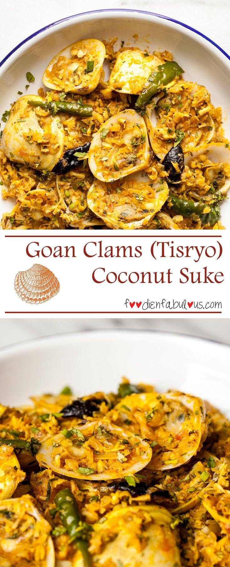 413 best goan images on pinterest goan food goan recipes and easy recipe for a traditional goan tisryo clams suke that is similar to mangalorean forumfinder Gallery