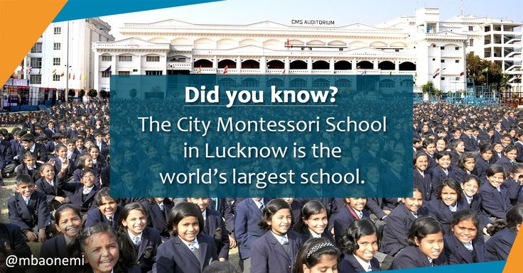 It is recognized by the Guinness Book of World Records as the world's largest school. The institution caters to some 52,000 pre-primary, primary and secondary students distributed across 20 campuses in the city.