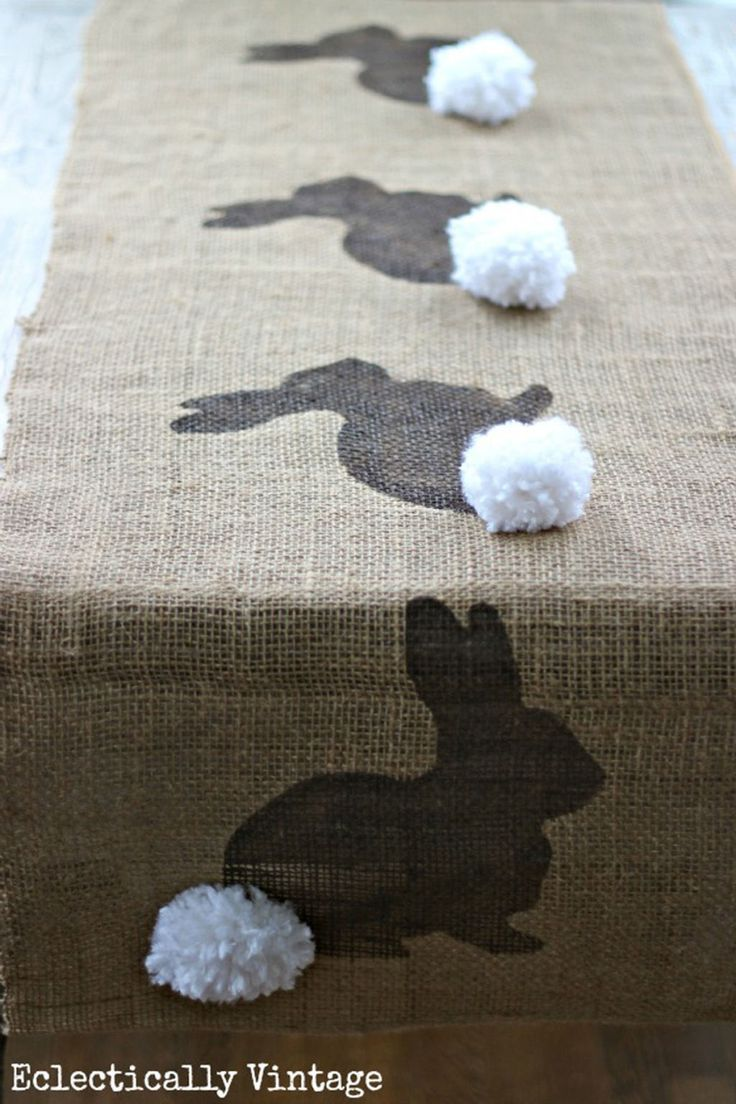 Burlap Bunny Table Runner  - CountryLiving.com
