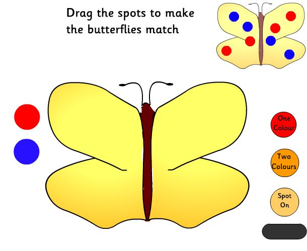 Prep Wonderful: matching using dots on butterflies