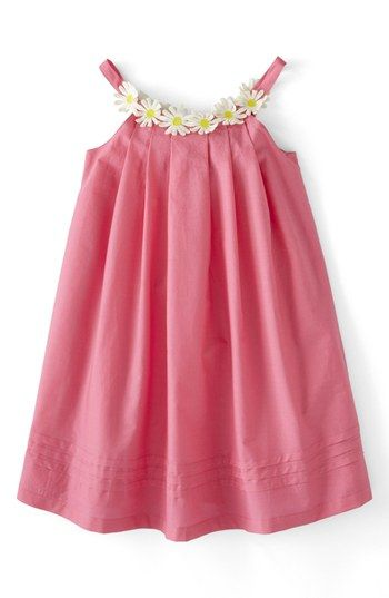 Mini+Boden+'Daisy'+Summer+Dress+(Toddler+Girls,+Little+Girls+&+Big+Girls)+available+at+#Nordstrom. Love the daisy detail!