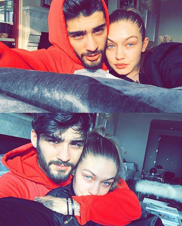 #Gigihadid and #Zaynmalik via Gigi's snapchat story (itsgigihadid)