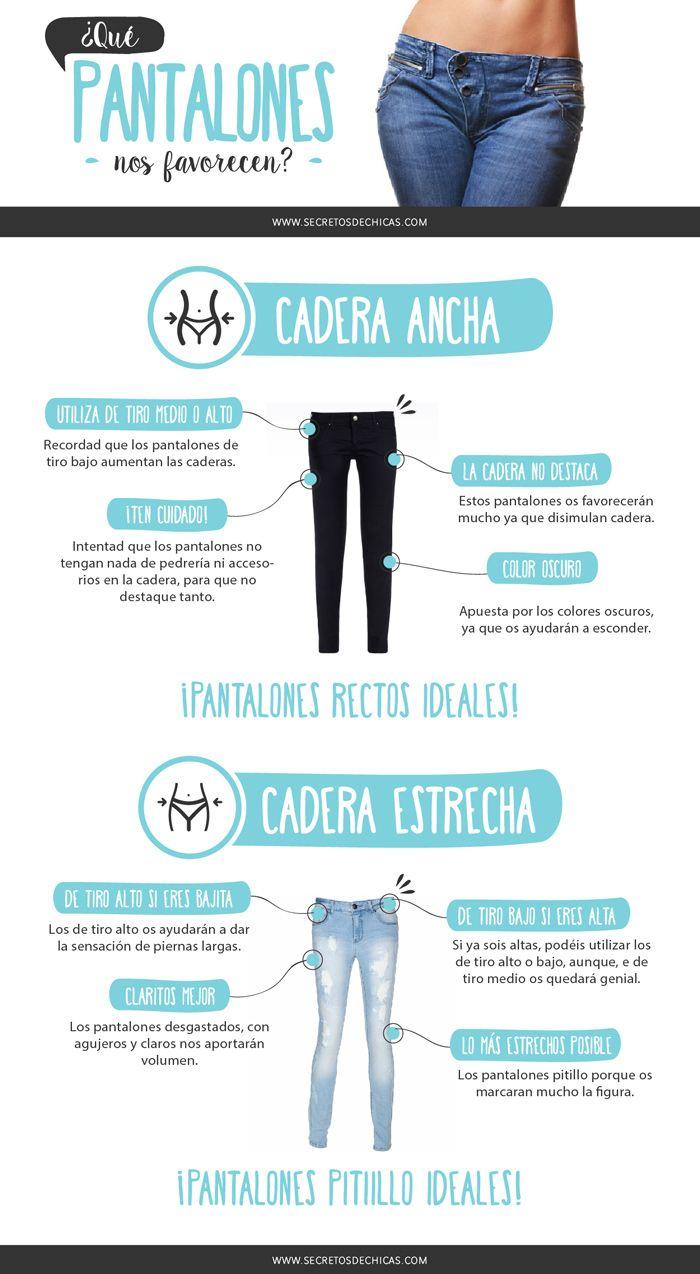 Ya sabéis que según el tipo de cuerpo nos favorecen un tipo de pantalones u…