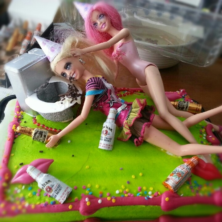 21st birthday cake! Barbie HA i love this one!!! @Bre A Edgett