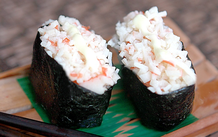 how to cook crab meat for sushi