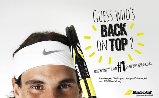 Rafa's back on top! #unstoppable 2013