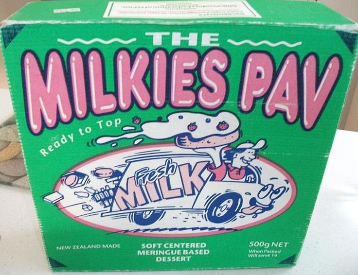 The Milkies Pav,Remember getting these at Xmas time from the Milkman with your Cream. But nothing beat making your own Pavlova, Christchurch, New Zealand