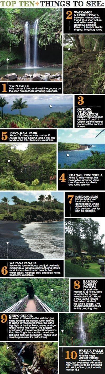 Top Ten Tips- Road to Hana, Maui