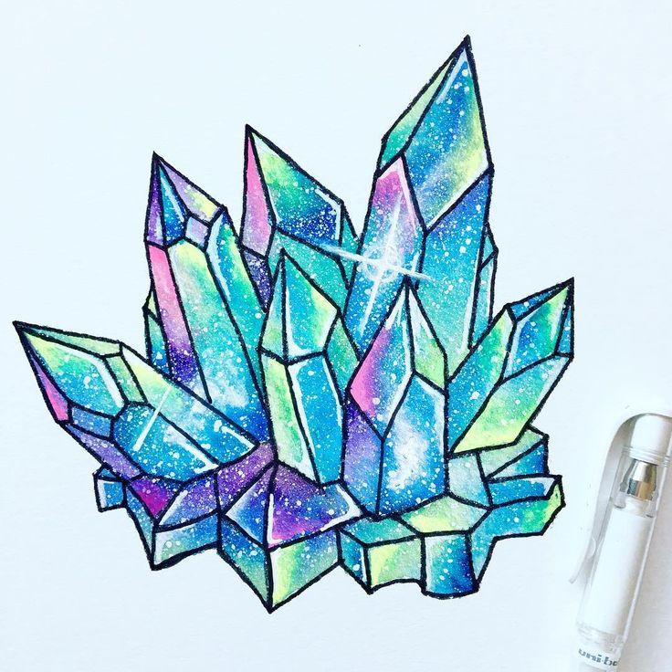 картинки срисовать кристаллы профессиональный