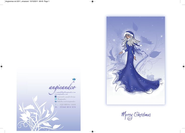 "Front and Back of ""Angieandco"" Christmas card"