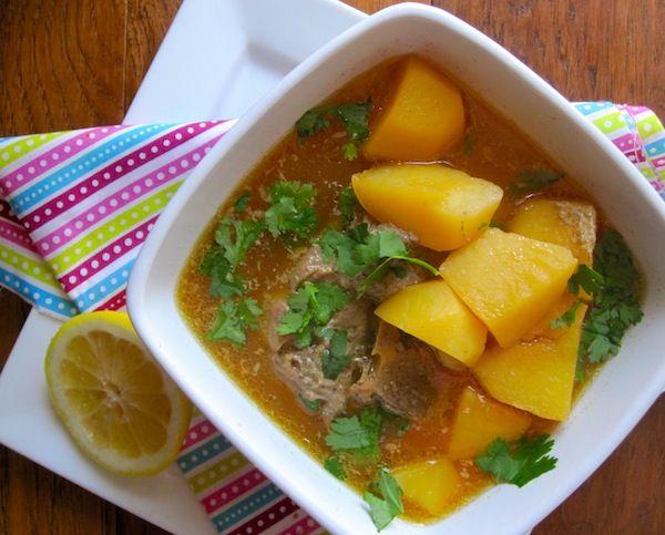 Caldo de Papas con Espinazo or Colombian Potato Pork Soup from blog My Colombian Recipes