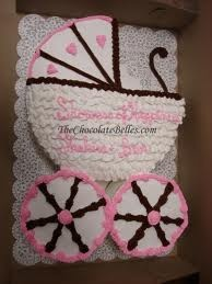 This idea seems simple. Pinner: girl baby shower cake