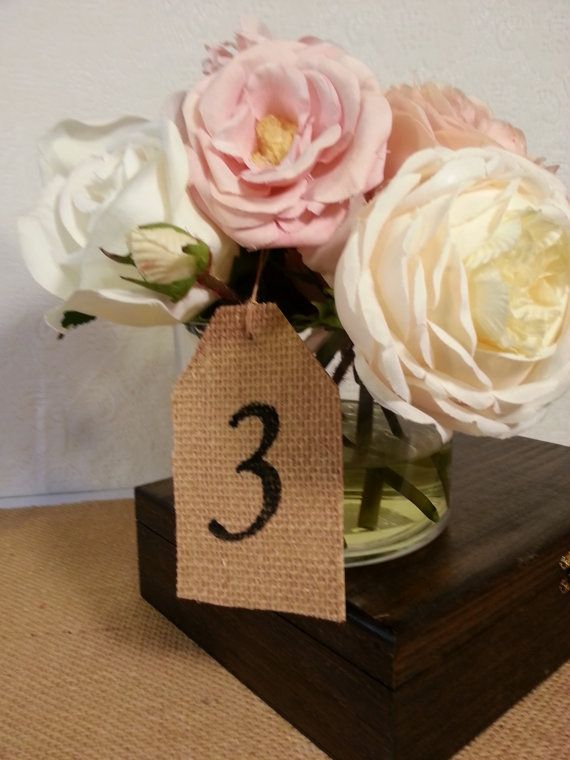 country wedding table numbers vintage wedding table decor centepiece gift tag place card 10 cards. $19.99, via Etsy.