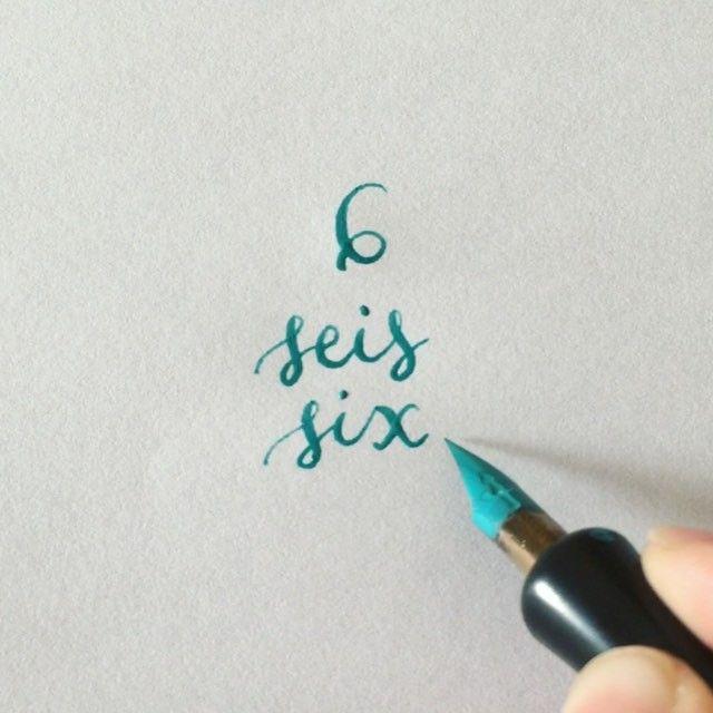 ☝️ #readbetweentheletters #readbetweentheletters_6 #calligraphy #caligrafia #6 #seis #six #speedball #pluma #ink #speedballink #numbers #numeros #numberscalligraphy #caligrafianumeros