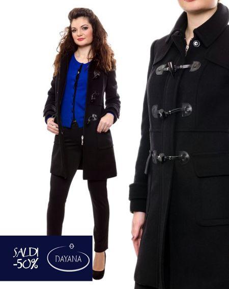 """MONTGOMERY DAYANA IN LANA E CASHMERE COLLEZIONE AI 2013/14 """"SALDI -50%""""  #fashion #moda #sale #saldi #shopping #fw #woman #madeitaly #curvy #casual  Taglio in vita, Tasche a toppa con pattine, Spacco centrale sul dietro, Manica lunga, Made in Italy.  http://www.dayanaboutique.com/shop/it/cappotto/116-MONTGOMERY-DAYANA-IN-LANA.html"""