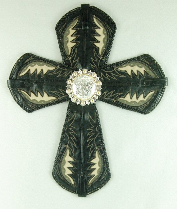 Re-purposed Western Cowboy Boot Cross    by BarefootCowboyNM