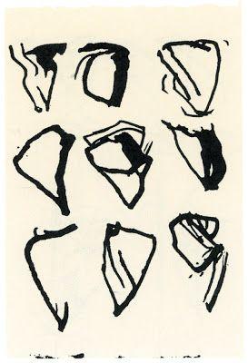 First three, 1985-1986; last four, from Workbook--Hydra, Tampere, N.Y.C., Bucks Co., 1987-1988