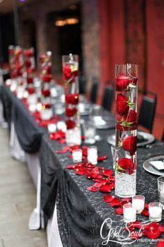 red and grey wedding decorations - Google Search                                                                                                                                                                                 More