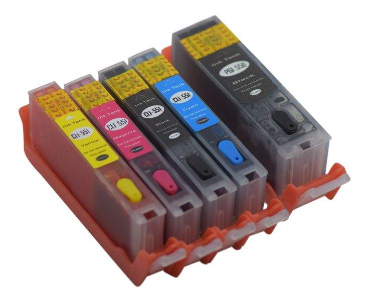 Refillable ink cartridges for Canon Pixma printers MG6350 IP7250 MG5450 MX925 PIXMA MG7150 MG6450 MG5550 compatible Non Oem Pre filled Refillable ink cartridge set