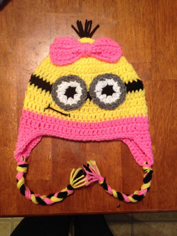 329 best crochet hats minions images on pinterest crochet hats crochet minion hat no pattern only a photo dt1010fo