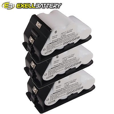 NEW 3x Exell EBVB-115 Ni-MH 7.2V Battery Fits EURO PRO Shark Vacuums USA SHIP