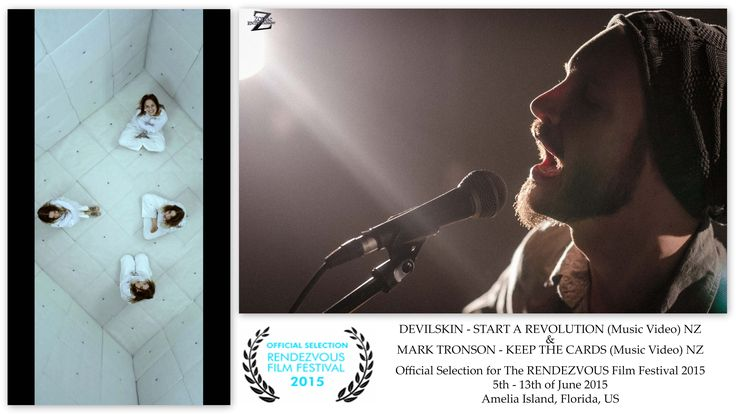 We are very proud to be part of Rendezvous Film Festival's 2015 program. #RFF2015, which will be held June 5th - 13th on Amelia Island, FL. RFF Received 1800 submissions from 82 Countries, 179 of 1800 where music videos. They selected 39 music videos from 11 countries to screen during the festival in June and at least two out of those 39 MVs are from #NZ. Complete screening details, including schedule will be posted at  http://www.ameliaislandfilmfestival.org/ on or before April 5th.