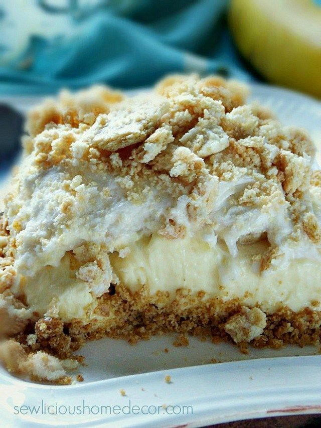 Easy No-Bake Banana Pudding Dessert. sewlicioushomedecor.com