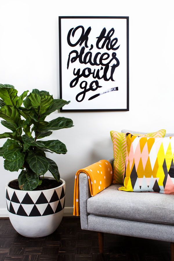 Hunting for George release their own prints #art #drseuss #theplacesyoullgo #typography #poster #homewares #monochrome