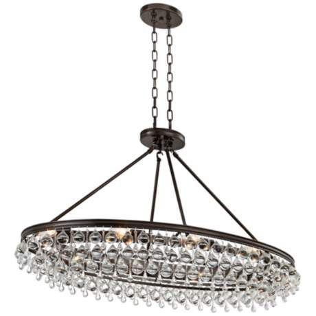 Crystorama calypso 40w bronze round island chandelier 1p412 www lampsplus