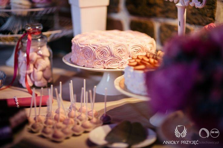 22. Fuchsia Wedding,Sweets,Sweet table decor / Wesele fuksjowe,Słodkości,Dekoracja słodkiego stołu,Anioły Przyjęć
