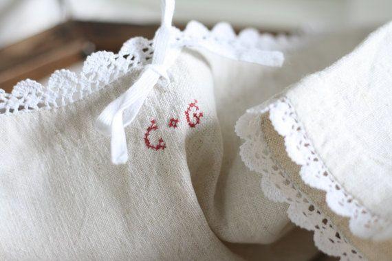 Chanvre pure vintage Français chemise de nuit 19 par Passesimple
