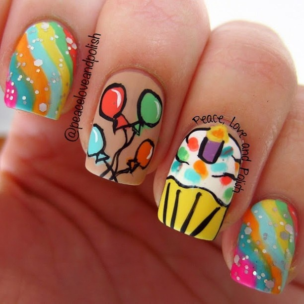 59 best nails birthday images on pinterest party birthdays peace love and polish its my birthday time for birthday nails prinsesfo Choice Image