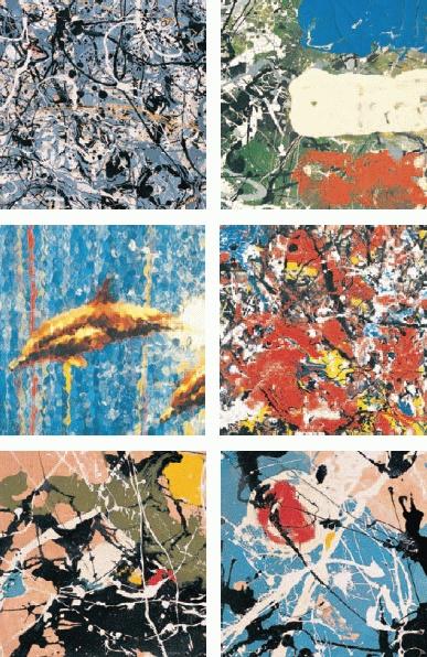 Stone Roses Pollack inspired album artwork
