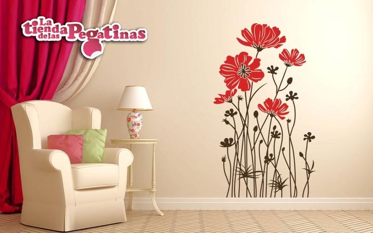 32 best images about vinilos florales on pinterest for Pegatinas para paredes de dormitorios