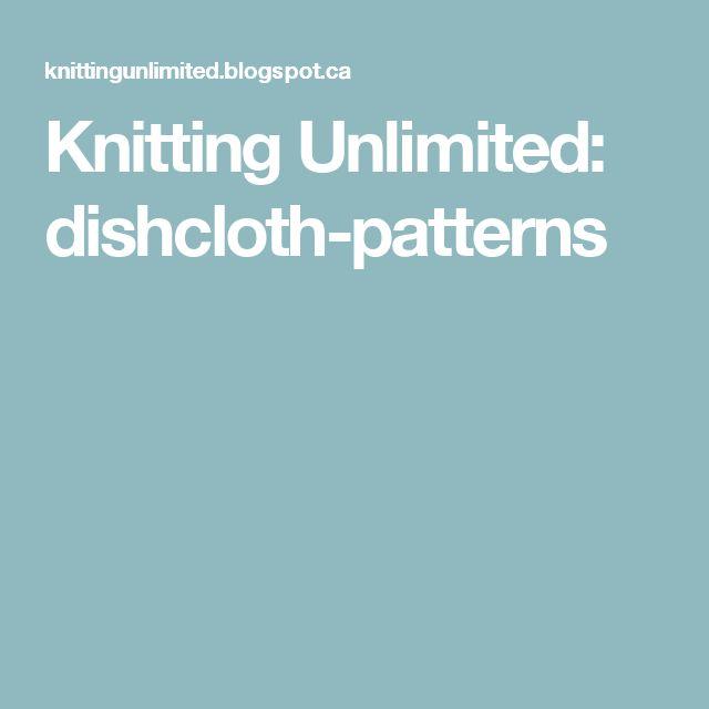 Knitting Unlimited: dishcloth-patterns