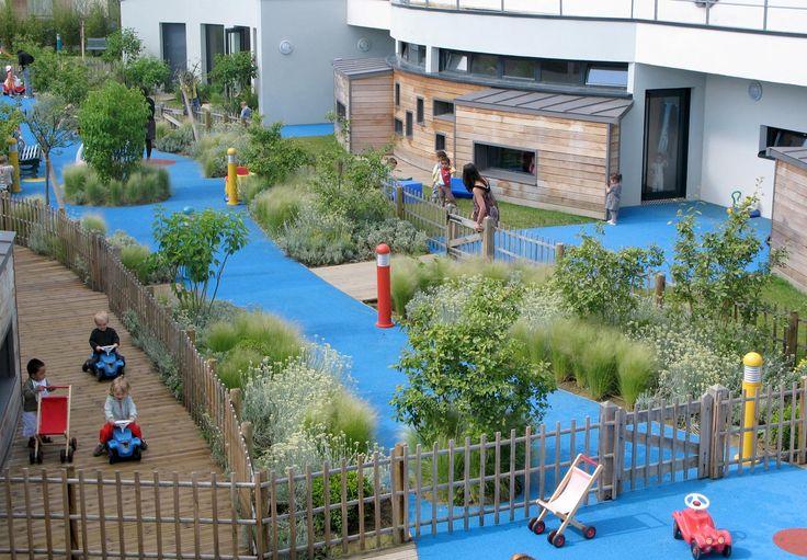 Jardin pour une crêche ‹ Thierry Jourd'heuil Architecte paysagiste