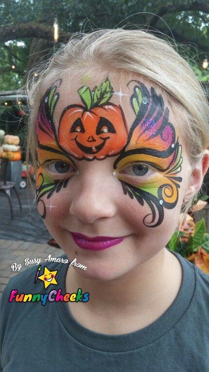 Pumpkin face design