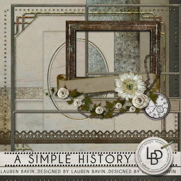 Capture the everyday with this collection of papers and frames. There's something for him and for her in this kit. This kit coordinates with An Unremarkable History Kit Plus.