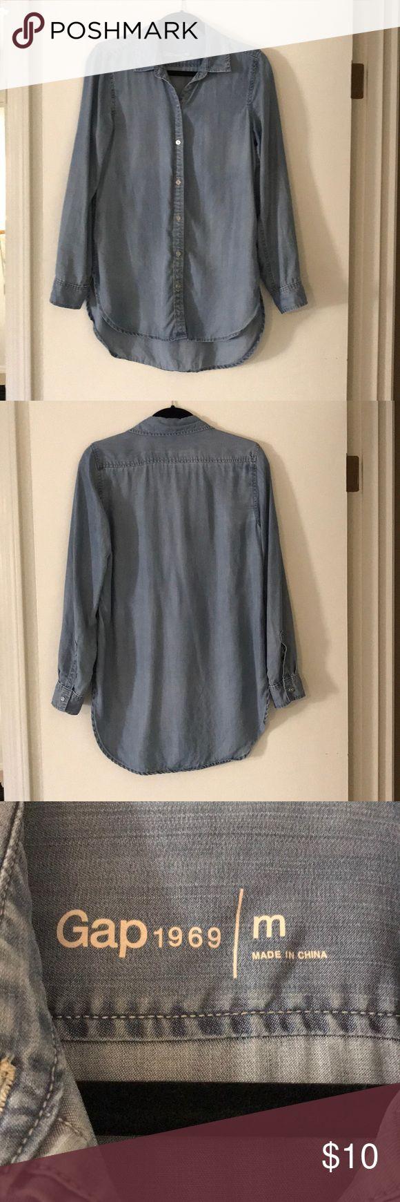 Long sleeve Gap top Super soft long sleeve denim top GAP Tops Tunics