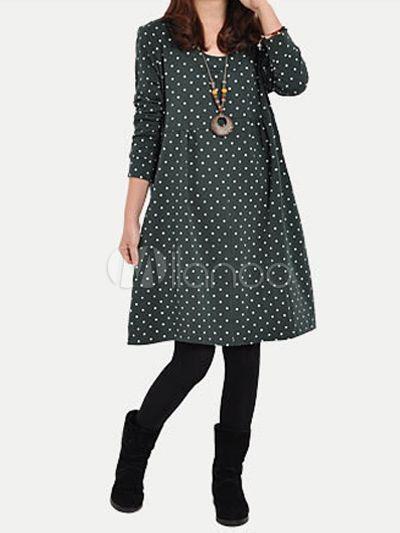 #Milanoo.com Ltd          #Shift Dresses            #Charming #Crewneck #Polka #Rayon #Shift #Dress     Charming Crewneck Polka Dot Rayon Shift Dress                                 http://www.seapai.com/product.aspx?PID=5754919